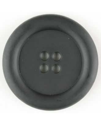 polyamide button, round, 4 holes - Size: 20mm - Color: black - Art.No. 261237