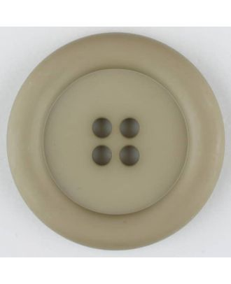 polyamide button, round, 4 holes - Size: 25mm - Color: beige - Art.No. 315716