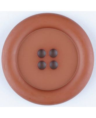 polyamide button, round, 4 holes - Size: 20mm - Color: brown - Art.No. 265719