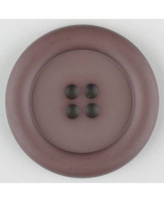 polyamide button, round, 4 holes - Size: 20mm - Color: brown - Art.No. 265720