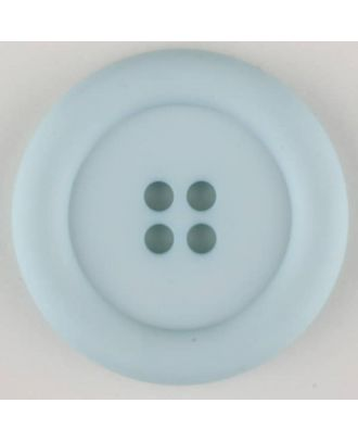 polyamide button, round, 4 holes - Size: 20mm - Color: blue - Art.No. 265721