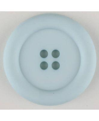 polyamide button, round, 4 holes - Size: 25mm - Color: blue - Art.No. 315721
