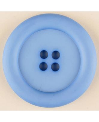 polyamide button, round, 4 holes - Size: 20mm - Color: blue - Art.No. 265722