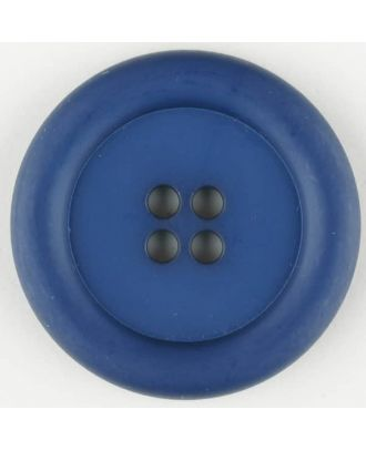 polyamide button, round, 4 holes - Size: 20mm - Color: blue - Art.No. 265723