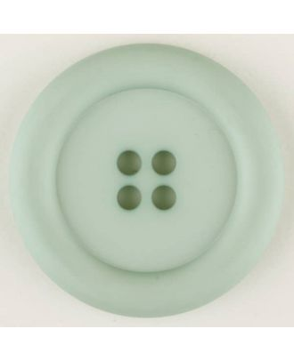 polyamide button, round, 4 holes - Size: 30mm - Color: green - Art.No. 345723