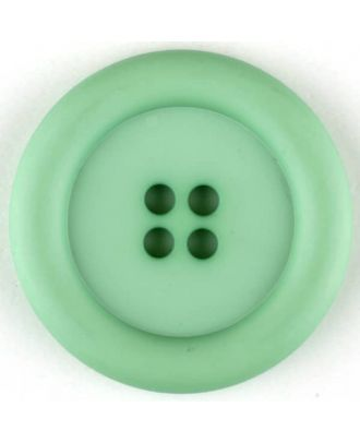 polyamide button, round, 4 holes - Size: 30mm - Color: green - Art.No. 345724