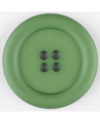 polyamide button, round, 4 holes - Size: 30mm - Color: green - Art.No. 345725