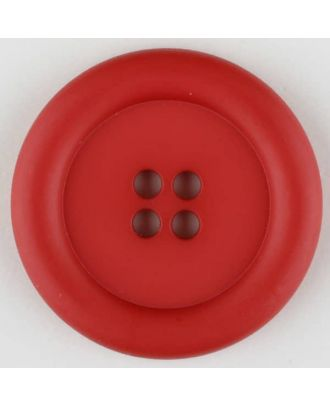 polyamide button, round, 4 holes - Size: 30mm - Color: red - Art.No. 345726