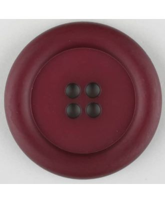 polyamide button, round, 4 holes - Size: 20mm - Color: wine red - Art.No. 265729