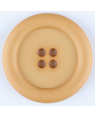 polyamide button, round, 4 holes - Size: 25mm - Color: orange - Art.No. 315730