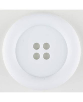 polyamide button, round, 4 holes - Size: 20mm - Color: white - Art.No. 261236
