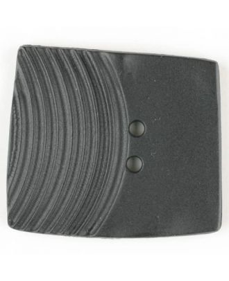 polyamide button, square, 2 holes - Size: 23mm - Color: black - Art.No. 331040