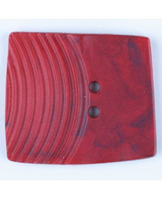 polyamide button, square, 2 holes - Size: 38mm - Color: red - Art.No. 375709