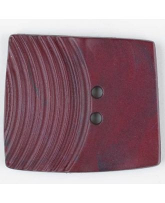 polyamide button, square, 2 holes - Size: 38mm - Color: wine red - Art.No. 375710