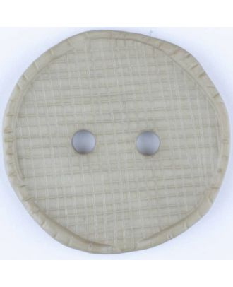 polyamide button, round, 2 holes - Size: 15mm - Color: grey - Art.No. 265731