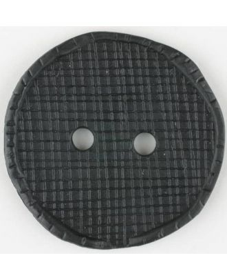 polyamide button, round, 2 holes - Size: 15mm - Color: black - Art.No. 261239