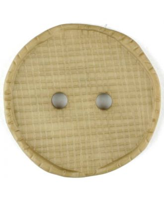 polyamide button, round, 2 holes - Size: 15mm - Color: beige - Art.No. 265732