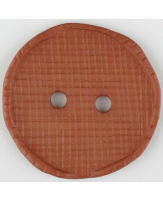 polyamide button, round, 2 holes - Size: 32mm - Color: brown - Art.No. 375715
