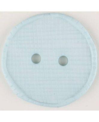 polyamide button, round, 2 holes - Size: 23mm - Color: blue - Art.No. 315759