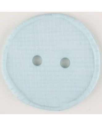 polyamide button, round, 2 holes - Size: 32mm - Color: blue - Art.No. 375716
