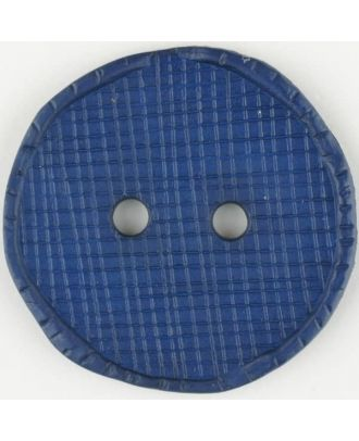 polyamide button, round, 2 holes - Size: 32mm - Color: blue - Art.No. 375717