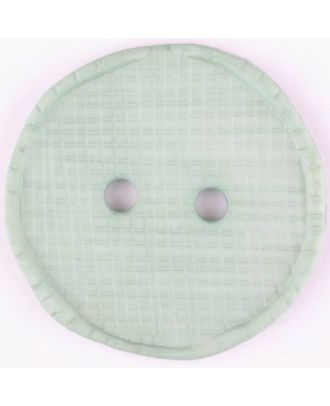 polyamide button, round, 2 holes - Size: 32mm - Color: green - Art.No. 375719