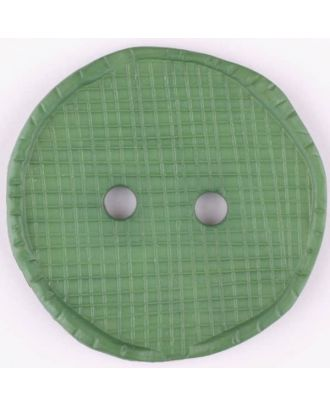 polyamide button, round, 2 holes - Size: 32mm - Color: green - Art.No. 375720