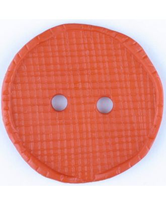 polyamide button, round, 2 holes - Size: 32mm - Color: red - Art.No. 375721