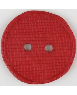 polyamide button, round, 2 holes - Size: 32mm - Color: red - Art.No. 375722
