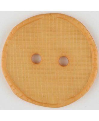 polyamide button, round, 2 holes - Size: 32mm - Color: orange - Art.No. 375723
