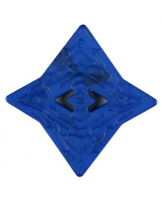 Polyamide button, edged, 2 holes - Size: 32mm - Color: blue - Art.No. 376738