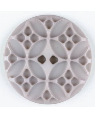 Polyamide button, round, 2 holes - Size: 20mm - Color: beige - Art.No. 266702