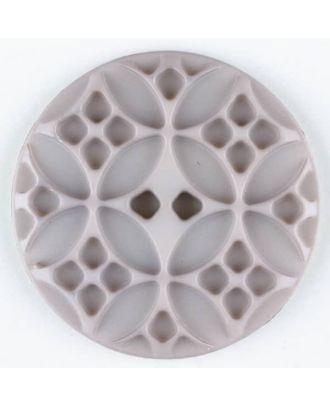 Polyamide button, round, 2 holes - Size: 28mm - Color: beige - Art.No. 336712
