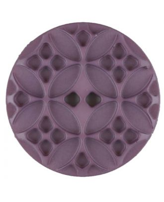 Polyamide button, round, 2 holes - Size: 34mm - Color: lilac - Art.No. 376716