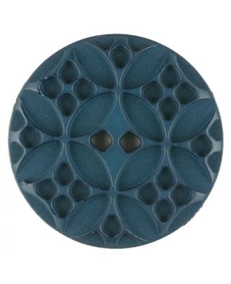 Polyamide button, round, 2 holes - Size: 28mm - Color: green - Art.No. 336718