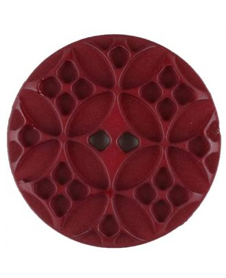 Polyamide button, round, 2 holes - Size: 34mm - Color: wine red - Art.No. 376720