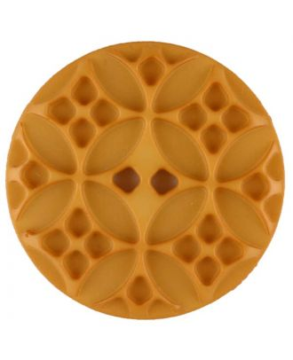 Polyamide button, round, 2 holes - Size: 34mm - Color: yellow - Art.No. 376721