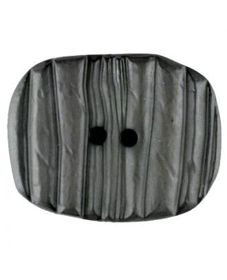 Polyamide button, oval, 2 holes - Size: 34mm - Color: grey - Art.No. 376722