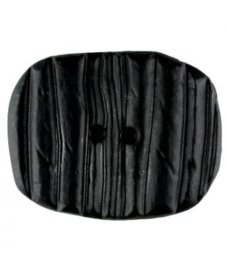 Polyamide button, oval, 2 holes - Size: 34mm - Color: black - Art.No. 370752