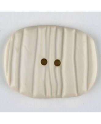 Polyamide button, oval, 2 holes - Size: 34mm - Color: beige - Art.No. 376723