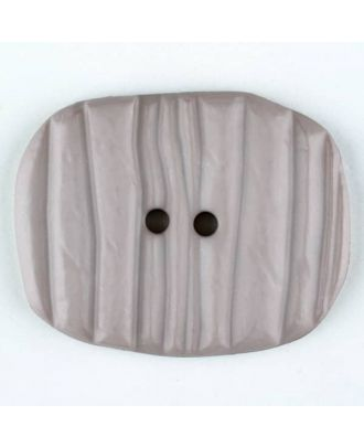 Polyamide button, oval, 2 holes - Size: 34mm - Color: beige - Art.No. 376725