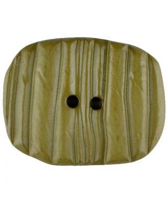 Polyamide button, oval, 2 holes - Size: 28mm - Color: green - Art.No. 346708