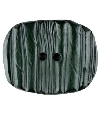 Polyamide button, oval, 2 holes - Size: 28mm - Color: green - Art.No. 346709