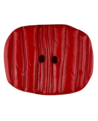 Polyamide button, oval, 2 holes - Size: 34mm - Color: red - Art.No. 376731