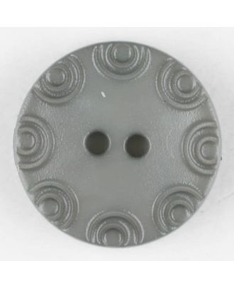 Polyamide button, round, 2 holes - Size: 13mm - Color: grey - Art.No. 216700