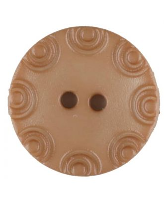 Polyamide button, round, 2 holes - Size: 13mm - Color: beige - Art.No. 216702