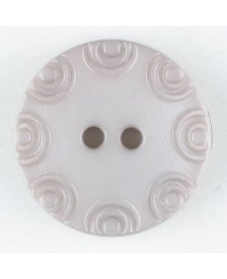 Polyamide button, round, 2 holes - Size: 13mm - Color: beige - Art.No. 216703