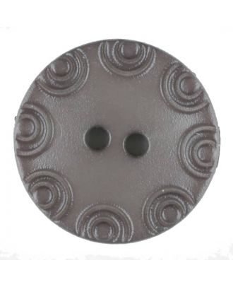 Polyamide button, round, 2 holes - Size: 13mm - Color: brown - Art.No. 216706