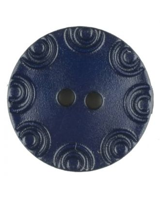 Polyamide button, round, 2 holes - Size: 13mm - Color: blue - Art.No. 216708