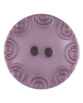 Polyamide button, round, 2 holes - Size: 13mm - Color: lilac - Art.No. 216709